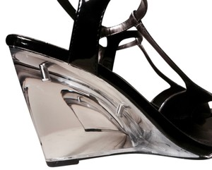 Calvin Klein Silver and Black Wedges