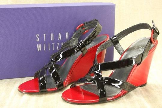 Stuart Weitzman Classic Formal Louboutin Red Wedges Image 1