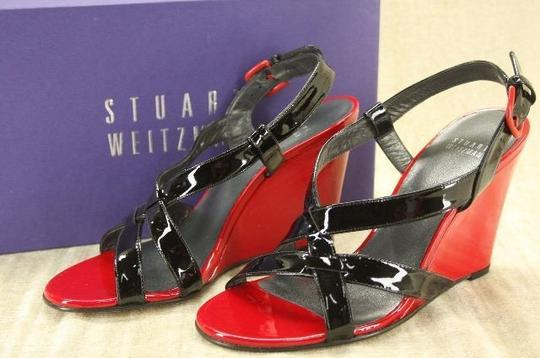 Stuart Weitzman Classic Formal Louboutin Red Wedges Image 3