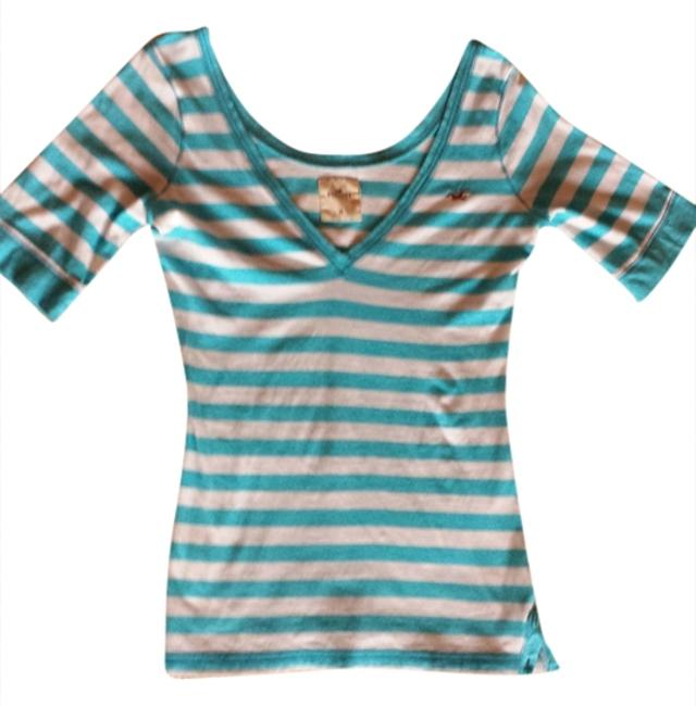 Preload https://item1.tradesy.com/images/hollister-blue-and-white-stripe-tee-shirt-size-8-m-1342405-0-0.jpg?width=400&height=650
