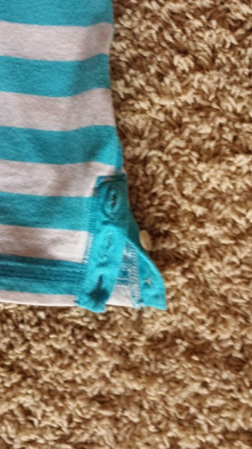 Hollister T Shirt Blue and White Stripe