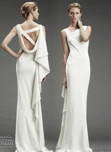Nicole Miller Ivory Silk Vanessa Destination Wedding Dress Size 4 (S)