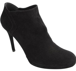 Stuart Weitzman Classic Pull On Almond Toe Formal Party Black Boots