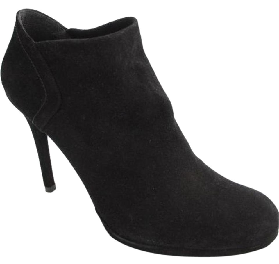 1b2435bf3a0a Stuart Weitzman Classic Pull On Almond Toe Formal Party Black Boots Image 0  ...