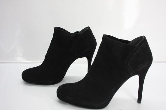 Stuart Weitzman Classic Pull On Almond Toe Formal Party Black Boots Image 1