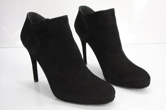 Stuart Weitzman Classic Pull On Almond Toe Formal Party Black Boots Image 2