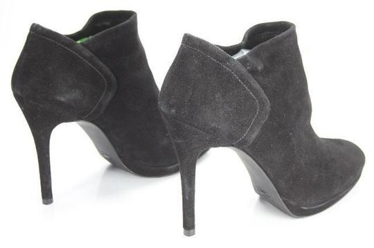 Stuart Weitzman Classic Pull On Almond Toe Formal Party Black Boots Image 3