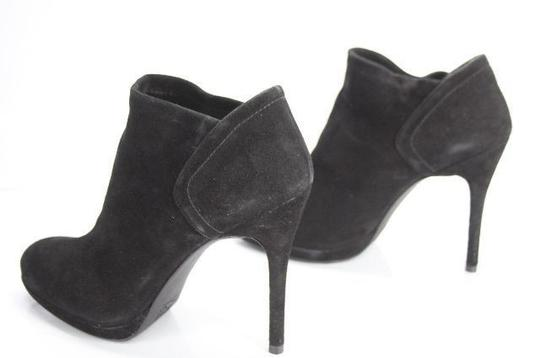 Stuart Weitzman Classic Pull On Almond Toe Formal Party Black Boots Image 5