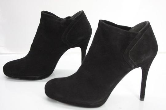 Stuart Weitzman Classic Pull On Almond Toe Formal Party Black Boots Image 6