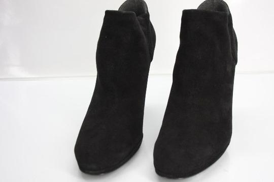 Stuart Weitzman Classic Pull On Almond Toe Formal Party Black Boots Image 7