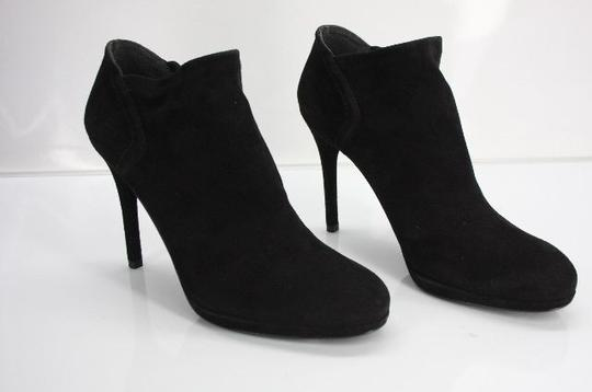 Stuart Weitzman Classic Pull On Almond Toe Formal Party Black Boots Image 8