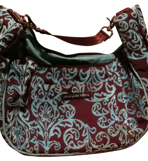 Petunia Pickle Bottom brown & blue Diaper Bag