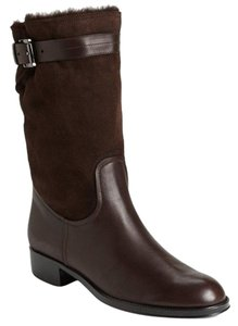 Tod's Classic Motorcycle Belted Brown Boots