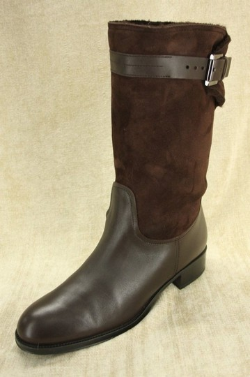 Tod's Classic Motorcycle Belted Brown Boots Image 1