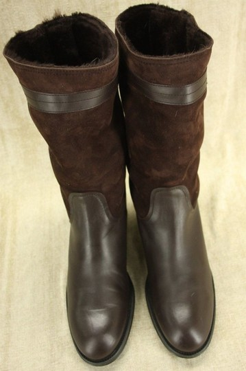 Tod's Classic Motorcycle Belted Brown Boots Image 3