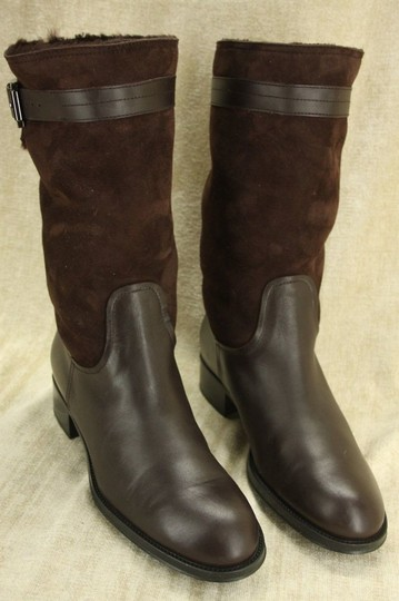Tod's Classic Motorcycle Belted Brown Boots Image 4