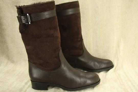 Tod's Classic Motorcycle Belted Brown Boots Image 5