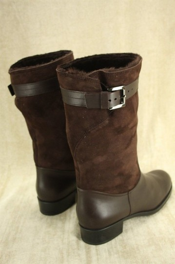 Tod's Classic Motorcycle Belted Brown Boots Image 6