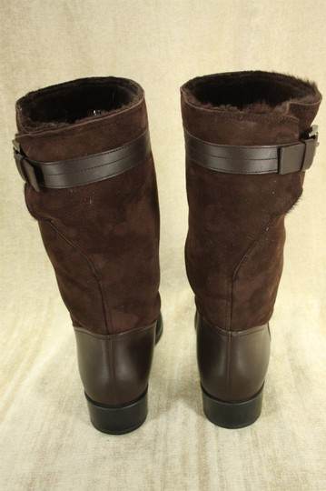Tod's Classic Motorcycle Belted Brown Boots Image 7