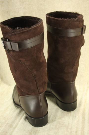 Tod's Classic Motorcycle Belted Brown Boots Image 8