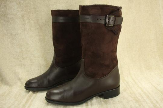 Tod's Classic Motorcycle Belted Brown Boots Image 9