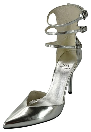 Preload https://img-static.tradesy.com/item/13424125/stuart-weitzman-silver-leather-privacy-pointed-toe-ankle-strappy-pumps-size-us-65-wide-c-d-0-1-540-540.jpg