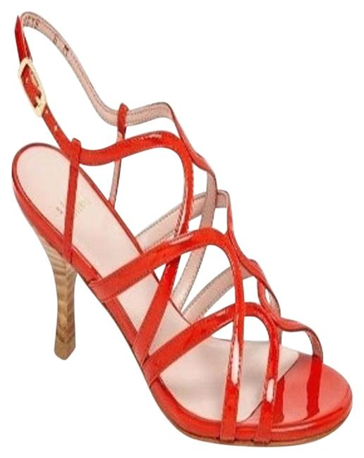 Item - Red Patent Caged Strappy Sandals Size US 9 Regular (M, B)