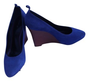 Cline Navy Suede Wedges