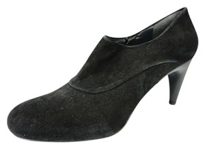 Stuart Weitzman Formal Slip On Dressy Hidden Platform Black Boots