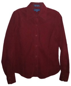 Faconnable Button Down Shirt Red