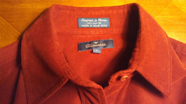 Faonnable Button Down Shirt Red