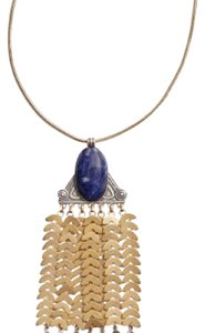 Tory Burch Stone Tassel Pendant Necklace