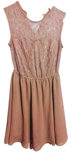 H&M short dress Nude/Peach Vintage Lace Flowy on Tradesy