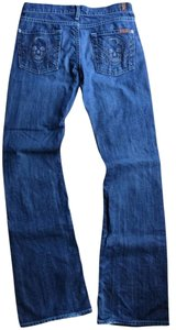 7 For All Mankind Skull Rocker Boot Cut Jeans
