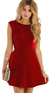 Tobi Nwot Open Back Velour Dress