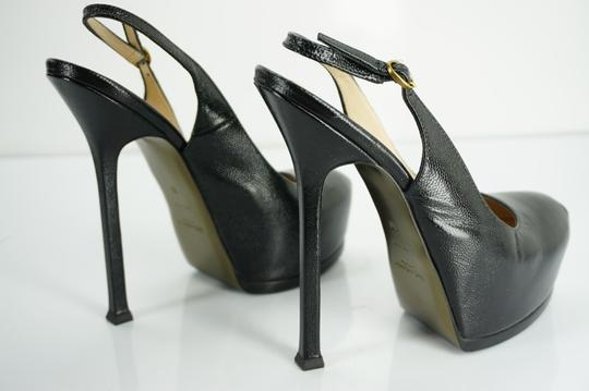 Saint Laurent Yves Ysl Tribute Two Hidden Textured Black Platforms Image 3