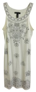 INC International Concepts Embroidery Silver Dress