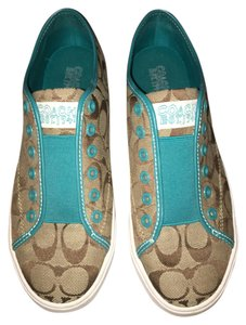 Coach Gently Worn Turquoise/Tan Athletic