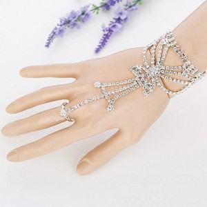 Silver/Clear Tower Crystal Gloves