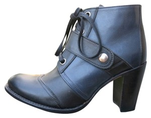Sendra Leather Bootie Two-tone Black, Blue Boots