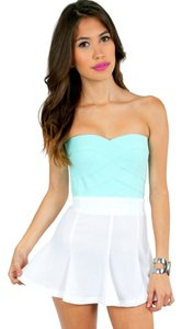 Tobi Bandeau Summer Beach Spring Top Mint