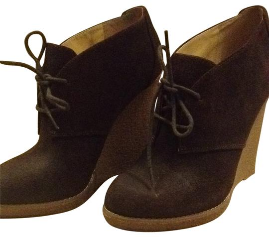 Preload https://img-static.tradesy.com/item/134268/enzo-angiolini-brown-suede-wedge-lace-up-bootsbooties-size-us-75-0-0-540-540.jpg