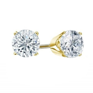 0.04 Round Cut Diamond Stud Promo Quality in 10k Yellow Gold (0.04 ctw, J-K color, I2 clarity)