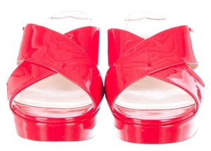Prada Patent Leather Red Sandals