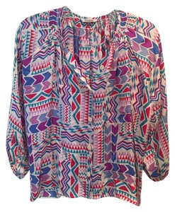 Tucker Silk Top Multi-Colored/Print