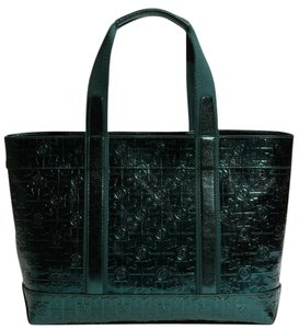 Tory Burch Tote in Metallic Emerald Green