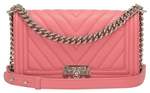 Chanel Chevron Pink Shoulder Bag