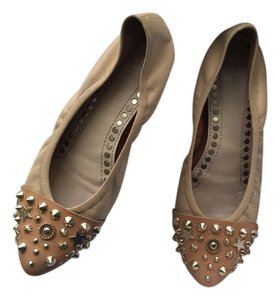 Givenchy Modern Chic Flat Studded Beige Flats