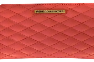 Rebecca Minkoff Rebecca Minkoff Pink Quilted Leather Sophie Snap Closure Continental Wallet