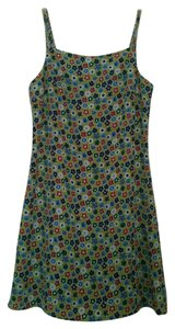 Jonathan Martin short dress Lime Green Short Colorful Floral Pattern Summer on Tradesy